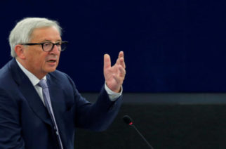 European Commission President Jean-Claude Juncker delivers a speech during a debate on the outcome of the last June 28-29 EU summit at the European Parliament in Strasbourg, France, July 3, 2018. REUTERS/Vincent Kessler
