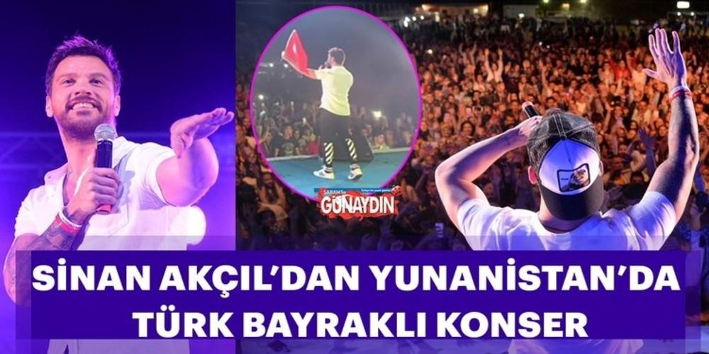 Προκλητικός ο Τούρκος τραγουδιστής Σινάν Ακτσίλ σε συναυλία στην Ξάνθη με την τουρκική σημαία (ΒΙΝΤΕΟ)