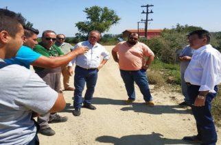 Τα έργα για τις πλημμύρες συζήτησαν επιτόπου Πέτροβιτς, Βενετίδης με τους αγρότες