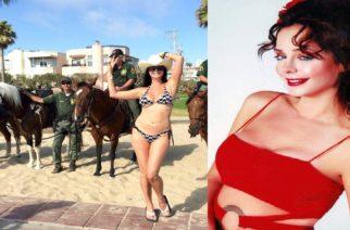 Η Εβρίτισσα ηθοποιός Δέσποινα Μοίρου μόνο με μαγιό προκάλεσε πανικό στους δρόμους του Los Angeles