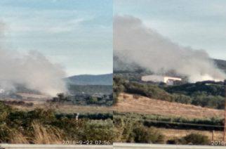 ΦΩΤΙΑ στον σκουπιδότοτο της Αλεξανδρούπολης. Φόβοι για μόλυνση της ατμόσφαιρας(φωτορεπορτάζ)