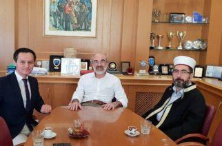 Συνάντηση του δημάρχου Αλεξανδρούπολης Βαγγέλη Λαμπάκη με τον μουφτή Διδυμοτείχου