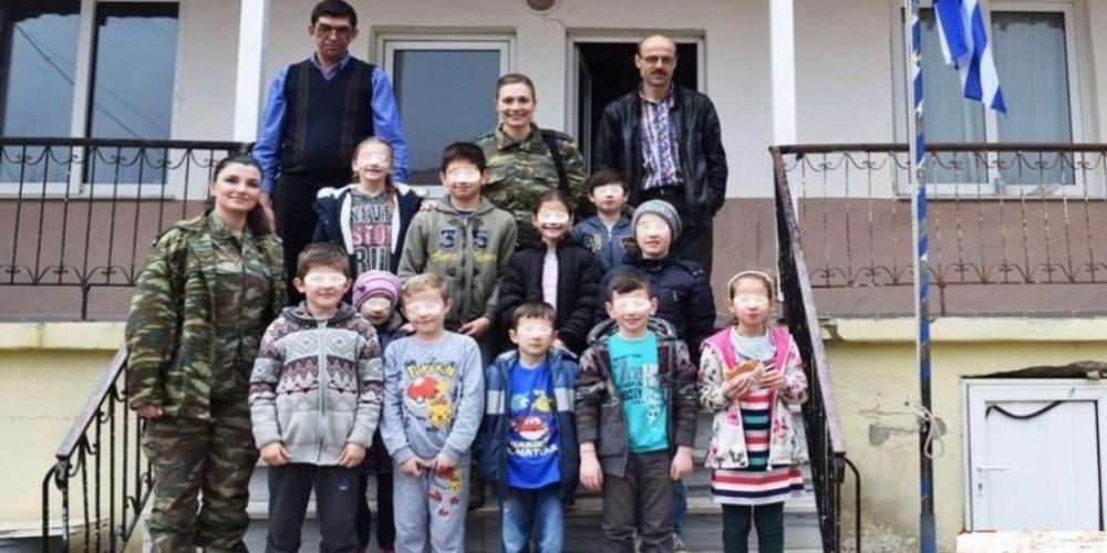 Προσφορά στα σχολεία ορεινών χωριών της Θράκης απ' το Δ' Σώμα Στρατού