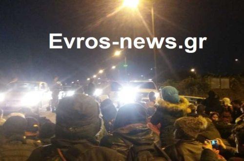 ΑΠΟΚΛΕΙΣΤΙΚΟ ΦΩΤΟΡΕΠΟΡΤΑΖ από την κατάληψη προσφύγων και  λαθρομεταναστών στον κάθετο άξονα του Έβρου