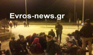 Ορεστιάδα: ΑΠΟΚΛΕΙΣΤΙΚΑ ΒΙΝΤΕΟ από την κατάληψη στον κάθετο άξονα του Έβρου