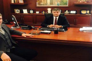 Συναντηση υποψήφιου Περιφερειάρχη Χ.Τοψίδη με τον Αντιπεριφερειάρχη Ξάνθης Κώστα Ζαγναφέρη