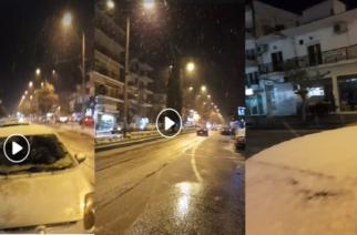 Άρχισε να χιονίζει στον κεντρικό και βόρειο Έβρο. ΒΙΝΤΕΟ από την Ορεστιάδα