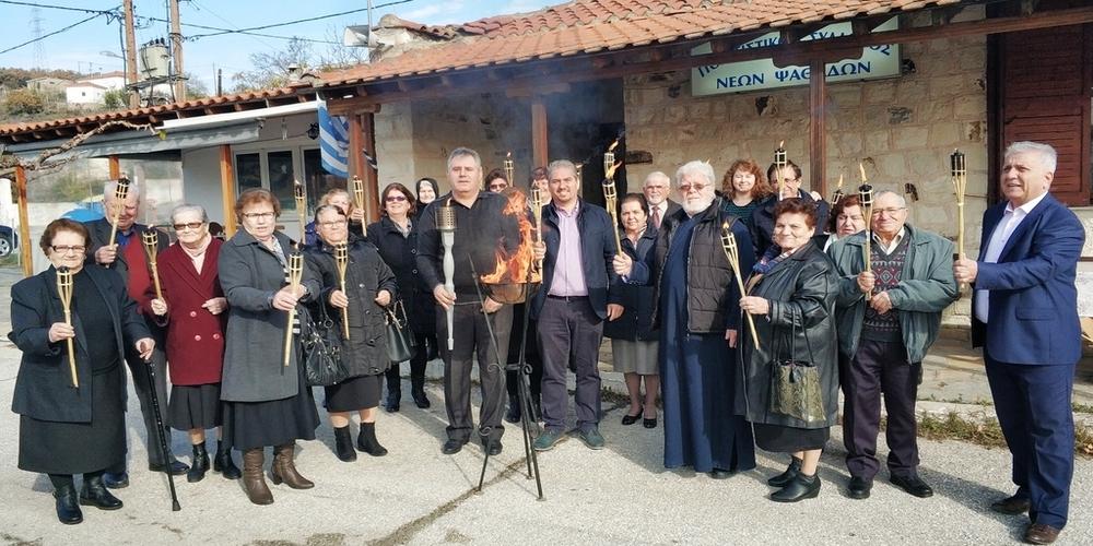 Η Φλόγα της αιμοδοσίας φώτισε τα σοκάκια του χωριού Ψαθάδες Διδυμοτείχου