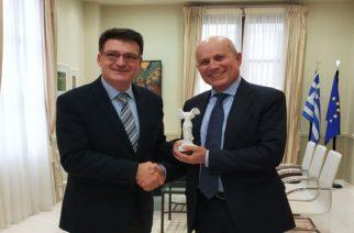 Συνάντηση του Αντιπεριφερειάρχη Δημήτρη Πέτροβιτς με τον Ιταλό Πρέσβη
