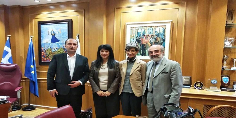 Συνάντηση του Δημάρχου Αλεξανδρούπολης Βαγγέλη Λαμπάκη με την Πρέσβειρα της Αγγλίας