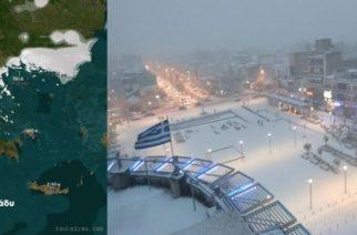 Χιόνια από αύριο Τετάρτη στον Έβρο, με θερμοκρασίες ως και -10 βαθμούς