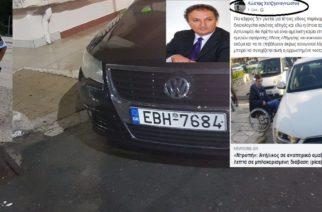 """Όσκαρ υποκρισίας στον Κ.Χατζηαναγνώστου: """"Γαργάρα"""" η στάθμευση του Αντιδημάρχου Χ.Ζιώγα σε θέση ΑΜΕΑ και κατηγορεί άλλους"""