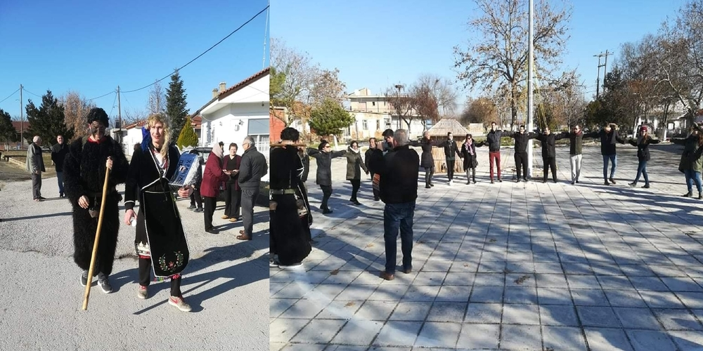"""Το έθιμο του """"Μπομποσάρη"""" αναβίωσε και χθες στο Νέο Χειμώνιο Ορεστιάδας (ΒΙΝΤΕΟ+φωτό)"""