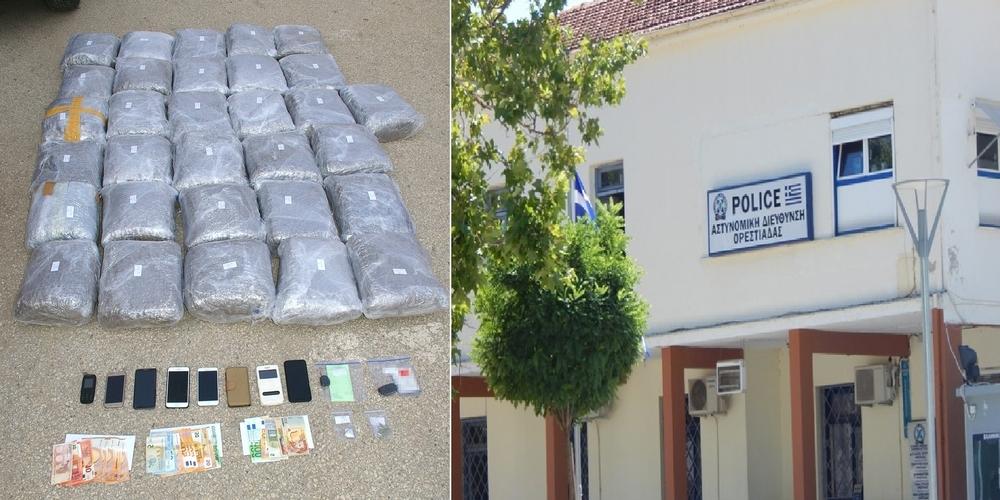 Τετραμελή… πολυεθνική σπείρα με 72 κιλά χασίς, συνέλαβαν οι αστυνομικοί της Ορεστιάδας