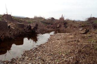 Ερωτηματικά για τον τρόπο καθαρισμού ρέματος στην περιοχή του Τριγώνου Ορεστιάδας (φωτό)