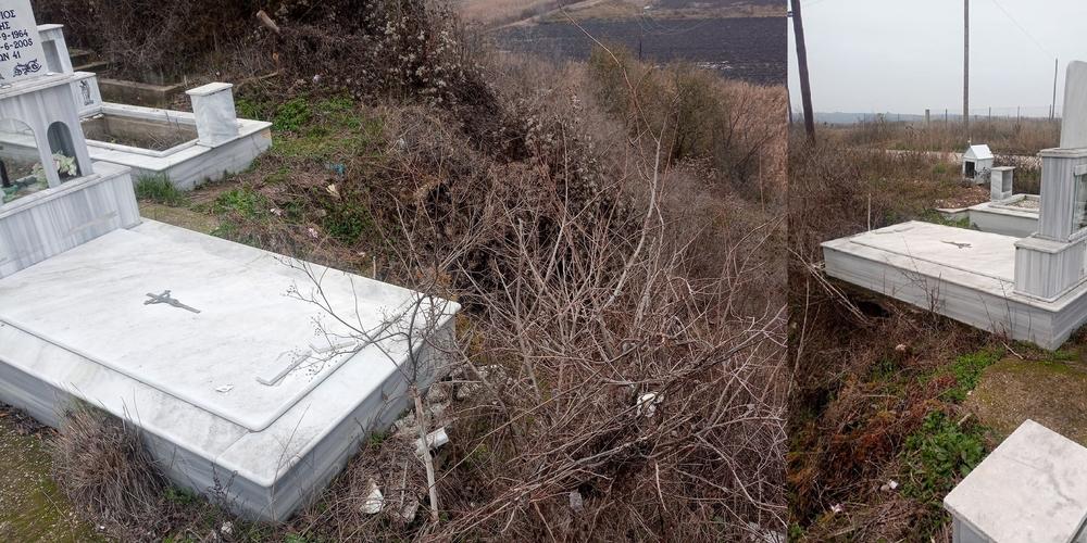 Ορμένιο Ορεστιάδας: Διαμαρτυρίες για εγκατάλειψη του νεκροταφείου. Κίνδυνος να βγουν οι σοροί στον… αέρα