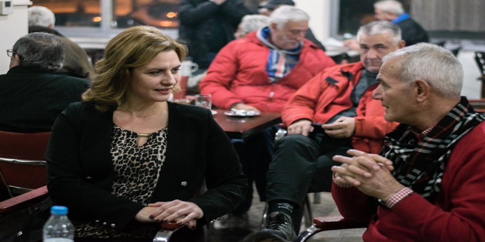 Επίσκεψη στην Οινόη για την Μ.Γκουγκουσκίδου – ΄Ακουσε απ' τους δημότες τα πολλά προβλήματα που αντιμετωπίζουν