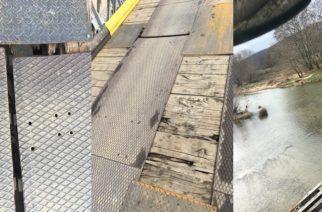 Γέφυρα Μικρού Δερείου: Τα… μπαλώματα δεν έλυσαν το πρόβλημα. Παραμένει επικίνδυνη για βαριά οχήματα