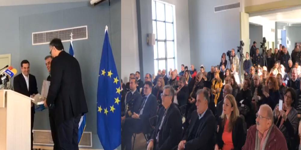"""Επίτιμος δημότης Σαμοθράκης ανακηρύχθηκε ο Αλέξης Τσίπρας: """"Σύντροφε Πρωθυπουργέ"""" τον προσφώνησε ο Πρόεδρος του Δ.Σ Παν.Παππάς"""