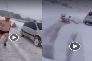 Φοβερά ΒΙΝΤΕΟ: Γυμνοί κάνουν σκι στο χιόνι στην Ορεστιάδα