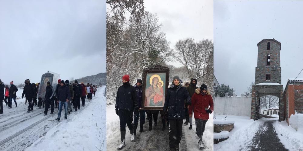 Δαδιά: Τήρησαν το έθιμο μεταφοράς της εικόνας της Παναγιάς απ' το Μοναστήρι στην εκκλησία (ΒΙΝΤΕΟ)