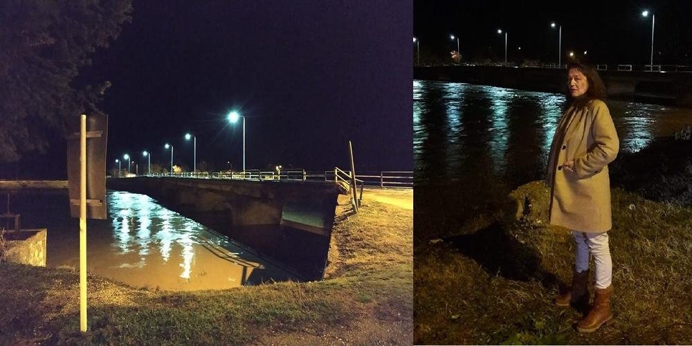 ΕΚΤΑΚΤΟ: Έκλεισε η παλιά γέφυρα Ερυθροποτάμου στο Διδυμότειχο απ' την αστυνομία. Ανέβηκε επικίνδυνα η στάθμη του νερού