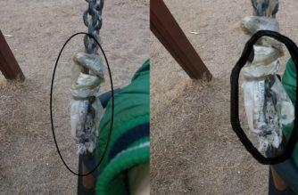 Αλεξανδρούπολη: Έδεσαν με σχοινί την σπασμένη αλυσίδα κούνιας στην παιδική χαρά της οδού Α.Ποιμενίδη!!!