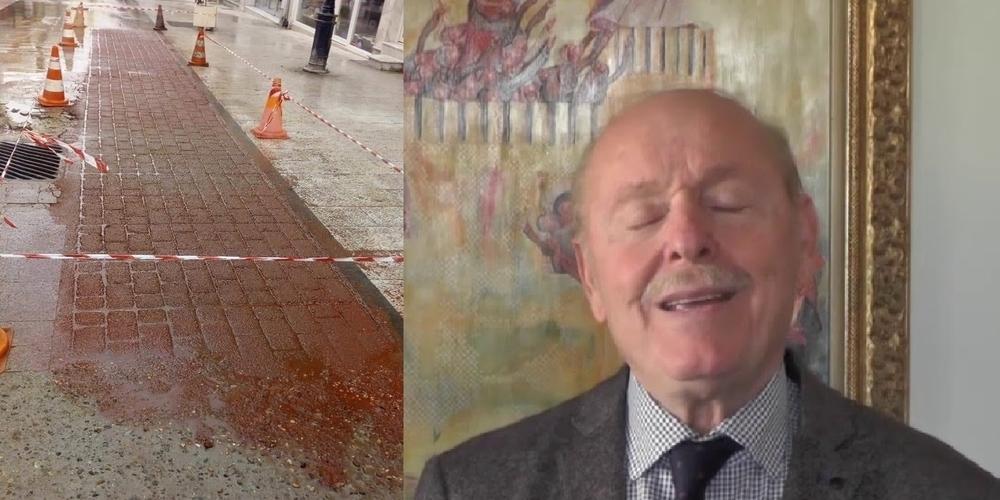 """Διδυμότειχο: Ο πεζόδρομος """"τραβεστί"""" της οδού Βενιζέλου, έγινε τώρα και… τρικολόρε!!!"""