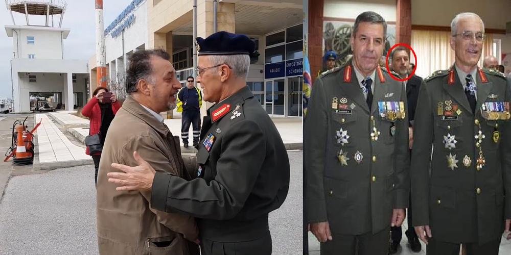 Ο νέος Αρχηγός ΓΕΣ Αντιστράτηγος Καμπάς και η παρουσία του στελέχους ΣΥΡΙΖΑ Έβρου συχνά δίπλα του