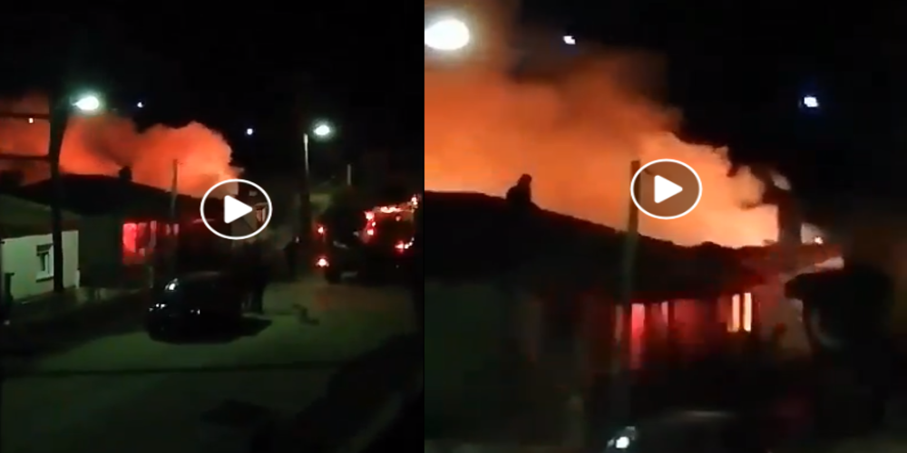 ΒΙΝΤΕΟ: Φωτιά σε σπίτι στο ΟρμένιοΤριγώνου – Πρόλαβαν και βγήκαν οι δυο διαμένοντες