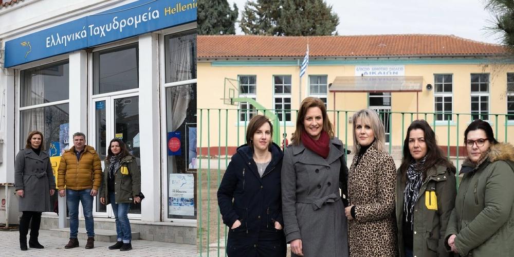 Δεύτερη επίσκεψη στα Δίκαια και καταγραφή των προβλημάτων απ' την υποψήφια δήμαρχο Μαρία Γκουγκουσκίδου