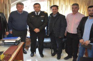 Επίσκεψη του υποψήφιου δημάρχου Βαγγέλη Μυτιληνού στο Λιμεναρχείο Αλεξανδρούπολης