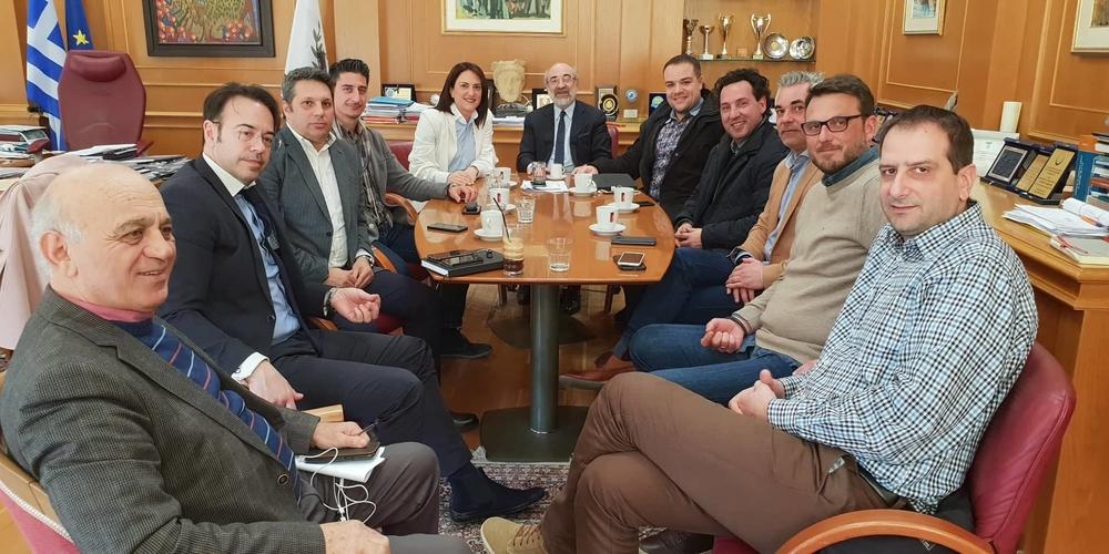 Αλεξανδρούπολη: Εθιμοτυπική συνάντηση του δημάρχου Βαγγέλη Λαμπάκη με το νέο Δ.Σ. του Εμπορικού Συλλόγου