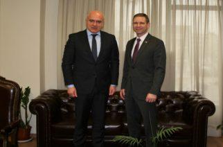 Συναντήσεις του Περιφερειάρχη Χρήστου Μέτιου με τους Προξένους ΗΠΑ και Ρωσίας απ' τη Θεσσαλονίκη