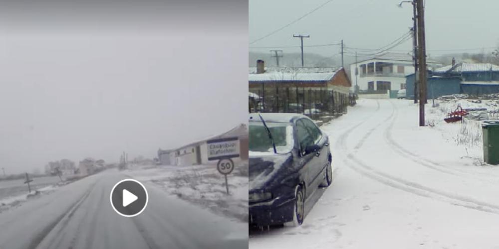 Έβρος: Ο παγετός και όχι το λίγο χιόνι δημιουργεί προβλήματα – Η κατάσταση στους δρόμους(ΒΙΝΤΕΟ+φωτό)