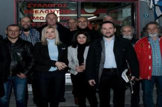 Συνάντηση με τη διοίκηση του Συλλόγου Εθελοντών Αιμοδοτών Αλεξανδρούπολης του υποψήφιου δημάρχου Γιάννη Ζαμπούκη