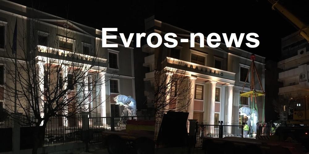 """Το Νομαρχείο της Αλεξανδρούπολης στολίζει πλέον η """"Νίκη της Σαμοθράκης"""""""