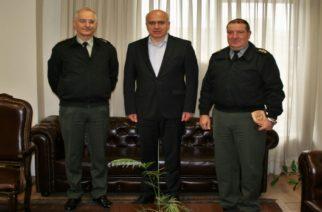 Επίσκεψη στον Περιφερειάρχη Χρήστο Μέτιο του απερχόμενου και του νέου Διοικητή της 29ης Ταξιαρχίας Πεζικού