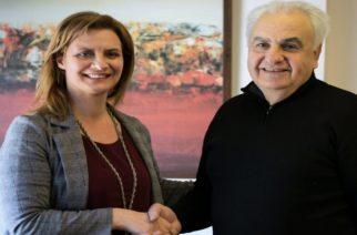 Ορεστιάδα: Υποψήφιοι Ευάγγελος Ντινούδης, Μαρία Μανάβη και Ιωάννης Γεωργιτσόπουλος με την Μαρία Γκουγκουσκίδου