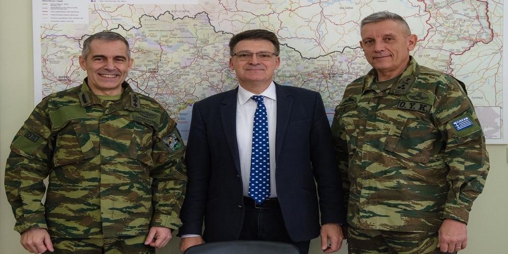 Συνάντηση με τον Διοικητή της 1ης Στρατιάς είχε ο Αντιπεριφερειάρχης Έβρου Δημήτρης Πέτροβιτς