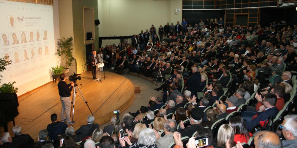 Με εντυπωσιακή παρουσία κόσμου η πρώτη εκδήλωση του Χρήστου Μέτιου των υποψηφίων της Δράμας