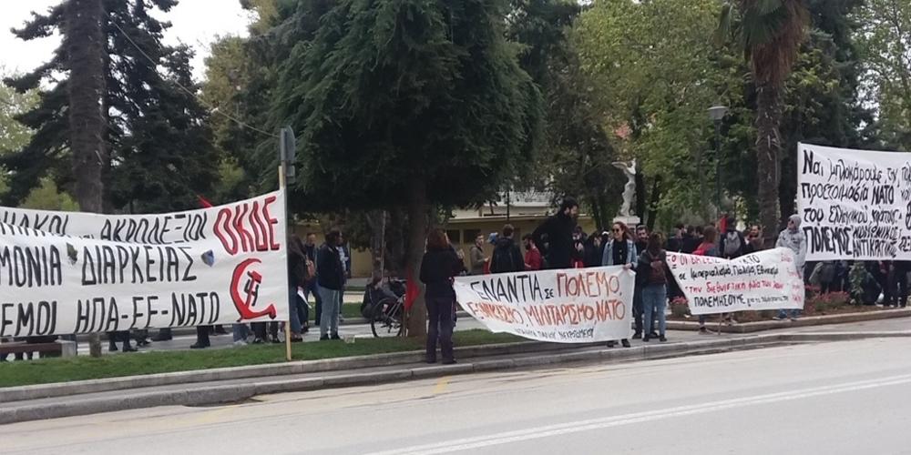 Γέμισε αστυνομικούς το μεσημέρι η Αλεξανδρούπολη για την πορεία ακροαριστερών κατά του ιμπεριαλισμού