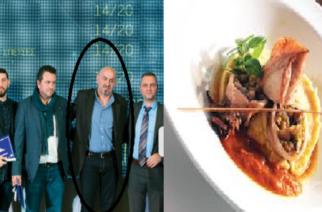 Ο Εβρίτης σεφ Κώστας Τερζούδης βραβεύθηκε για τις δημιουργίες του στο εστιατόριο του «Sesa Boutique Hotel»