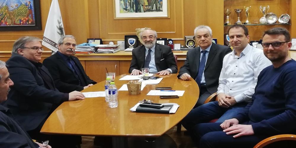 Συνάντηση για συνεργασία Δήμου Αλεξανδρούπολης-ΔΠΘ μεταξύ δημάρχου Βαγγέλη Λαμπάκη και Πρύτανη, Κοσμήτορα