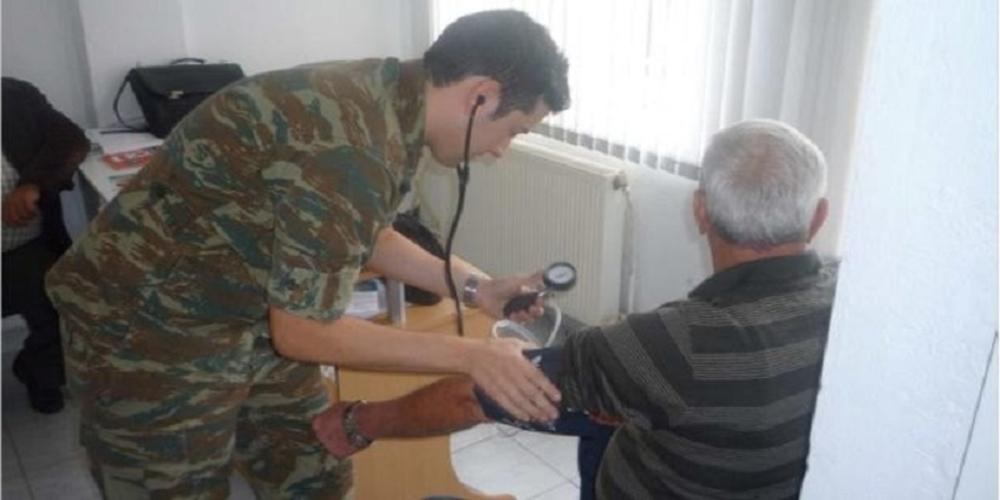 Δωρεάν ιατρικές εξετάσεις από Στρατιωτικό Κλιμάκιο στο ΚΑΠΗ Τυχερού