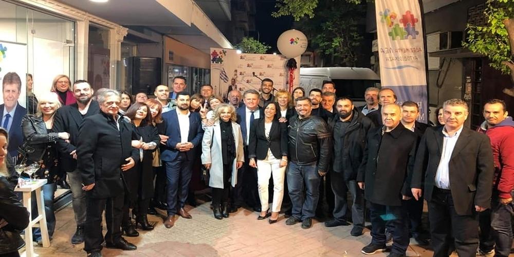 """Μυτιληνός: """"Ο κόσμος που μας τίμησε στα εγκαίνια του εκλογικού κέντρου μας έδωσε φτερά"""""""
