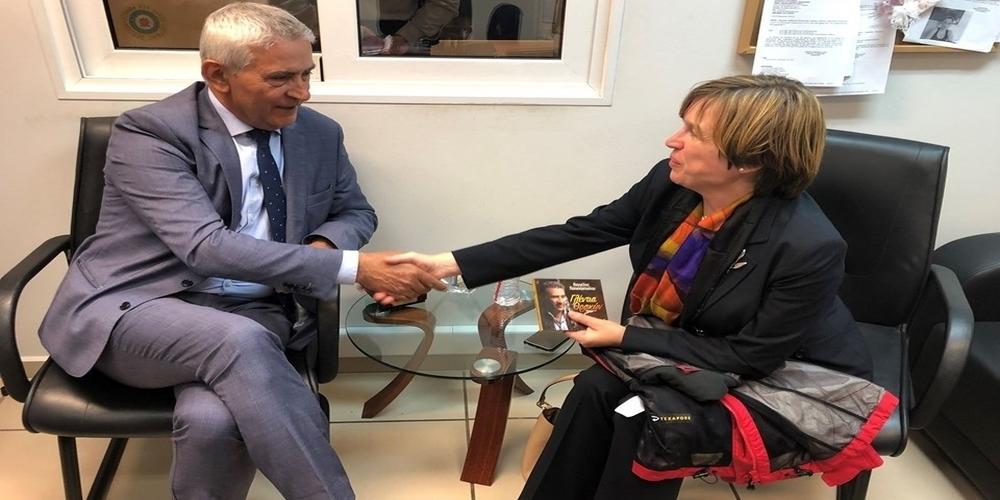 Συνάντηση με την Αρχηγό της Europol, είχε στην Αλεξανδρούπολη ο Τάσος Δημοσχάκης