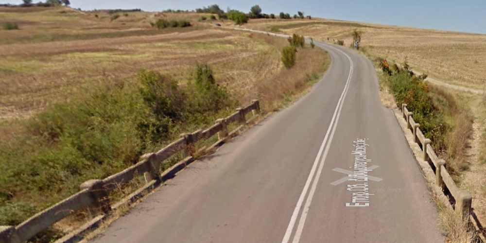 Το σημείο της επαρχιακής οδού Μεταξάδων-Διδυμοτείχου στο Παλιούρι, όπου έγινε το τροχαίο ατύχημα