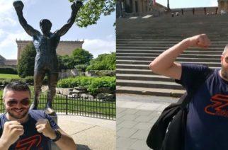 Ο Rocky απ' τη Νέα Βύσσα (Πέτρος Πολυχρονίδης) στην Φιλαδέλφεια των ΗΠΑ (ΒΙΝΤΕΟ)