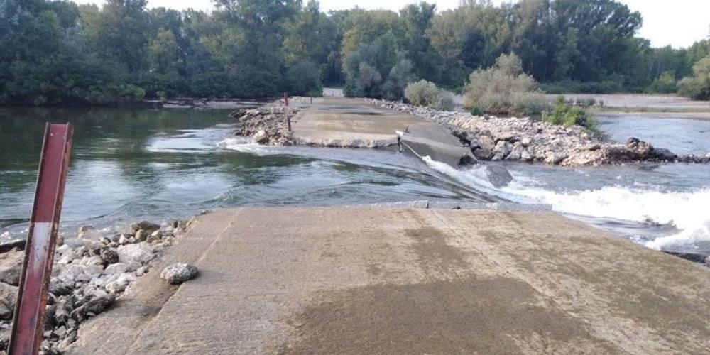 Καστανιές: Τα νερά παρέσυραν την ιρλανδική διάβαση στον Άρδα – Αποκλείστηκε η πρόσβαση σε αγρότες